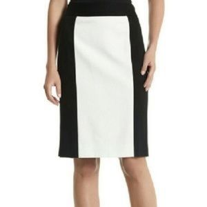 White House Black Market Colorblock Ponte Skirt